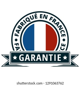Made in France illustration (Non-English text - Made in France Guarantee)