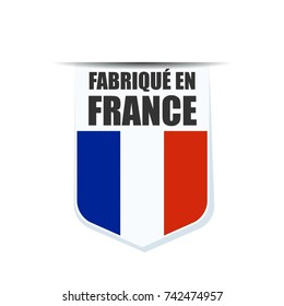 Made in France Shield illustration (non-English text - made in France)