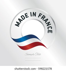 Made in France transparent logo icon silver background