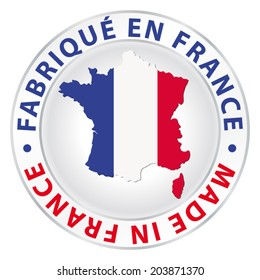 Made in France. Vector product label.