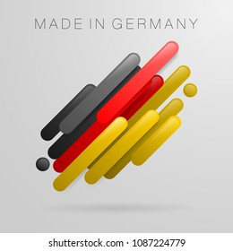 Made in Germany abstract design symbol