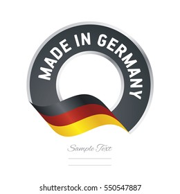 Made in Germany flag black color label button banner