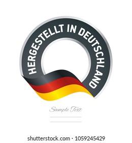 Made in Germany (German language - Hergestellt in Deutschland) stamp logo icon