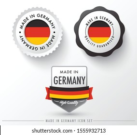 Made in Germany icon set isolated on white background ,for infographics and banner templates : Vector Illustration