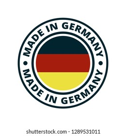 Made in Germany label illustration