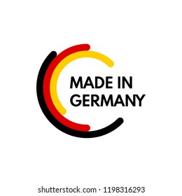 made in germany, rounded rectangles vector logo on white background