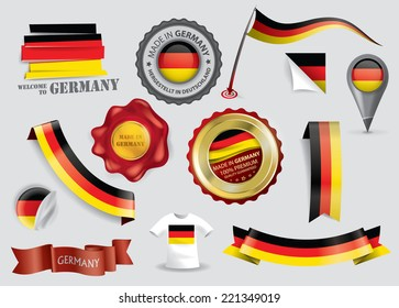 Made in Germany seal collection, German Flag, Berlin (Vector Art)