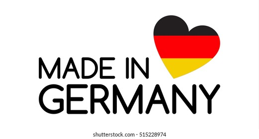 Made Germany Symbol Heart Colors German Stock Illustration 648389899