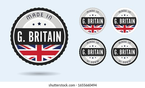 Made in Great Britain collection with British flag symbol.