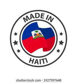Made in Haiti icon. Stamp sticker. Vector illustration