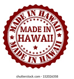 Made in Hawaii grunge rubber stamp, vector illustration