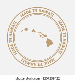 Made in Hawaii seal. Sign of production. Vector illustration EPS8