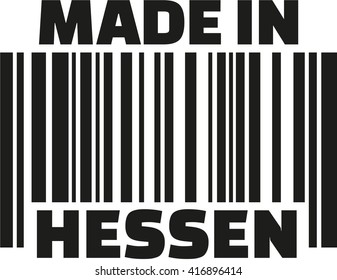 Made in Hesse barcode german