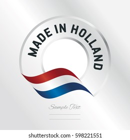 Made in Holland transparent logo icon silver background