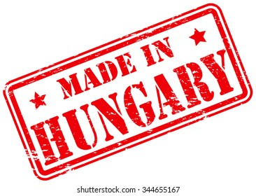 Made in Hungary Rubber Stamp
