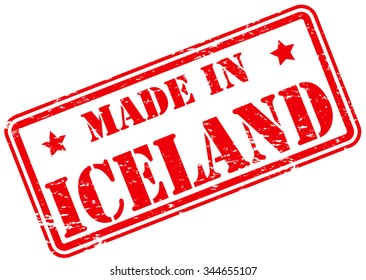 Made in Iceland Rubber Stamp