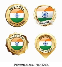 Made in India. Collection of Badges.