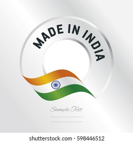 Made in India transparent logo icon silver background