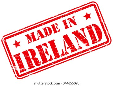 Made in Ireland Rubber Stamp