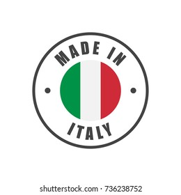 """Made in Italy"" badge with Italian flag"