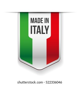 Made in Italy flag ribbon