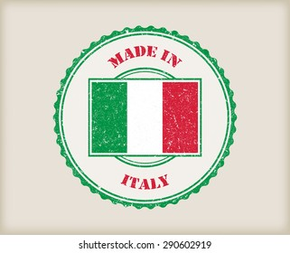 Made in Italy grunge rubber stamp.Vector illustration.