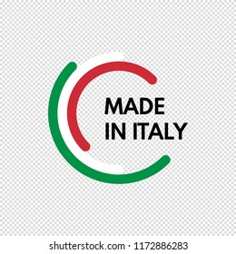 made in italy, half circles vector logo on transparent background