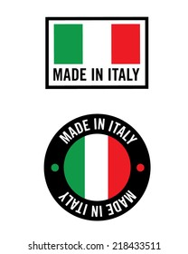 Made in Italy Icon Set - Vector