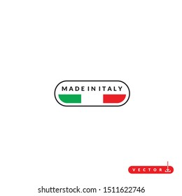 made in italy icon/symbol/Logo Design. Vector Template Illustration.