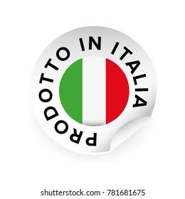 Made in Italy Italian language Prodotto in Italia