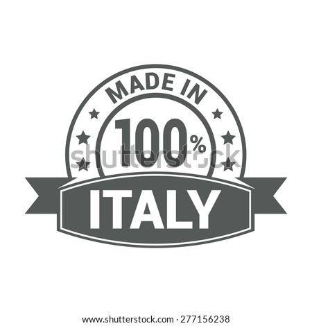 5a86fcdb1b Made in Italy . Round gray rubber stamp design isolated on white  background. With vintage texture. vector illustration - Vector