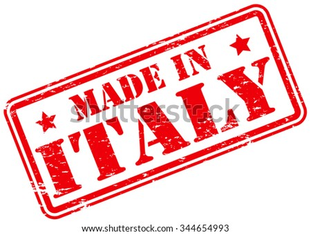 4604bdc13c ... Vector (Royalty Free) 344654993 - Shutterstock. Made in Italy Rubber  Stamp