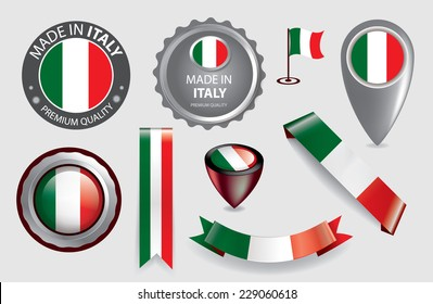 "Sticker /"" Made in Italy /"" Tricolor Italy Italia Vespa Decor Barcode"