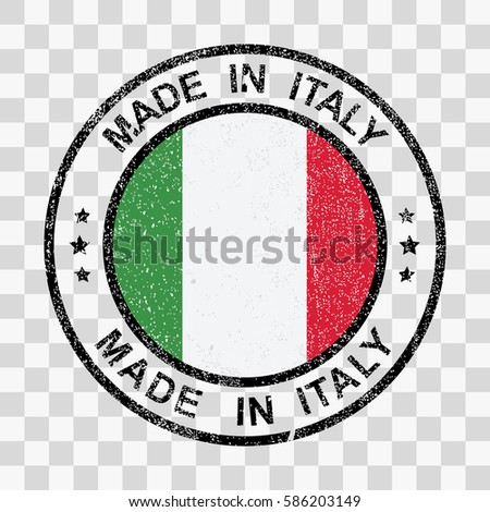 Made Italy Stamp Grunge Style 库存矢量图(免版税) 586203149 ...