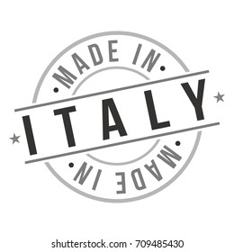 Made In Italy Stamp Logo Icon Symbol Design- Seal National Product Badge.