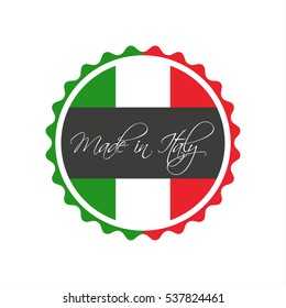 Made in Italy symbol, italian sticker, vector symbol isolated on a white background