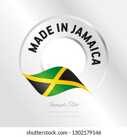 Made in Jamaica transparent logo icon silver background stamp