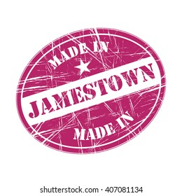 Made In Jamestown Rubber Stamp