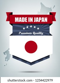 Made in Japan Background Design with Map
