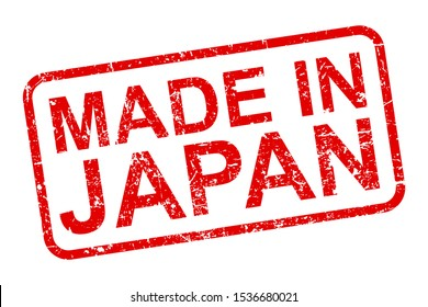 Made in Japan stamp icon sign – stock vector