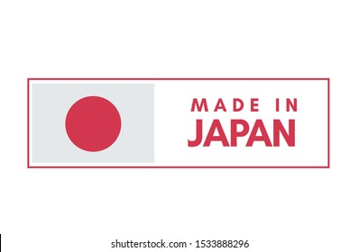 Made in Japan tag stamp in vector illustration.