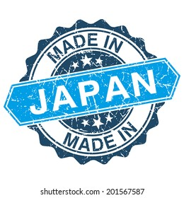 made in Japan vintage stamp isolated on white background