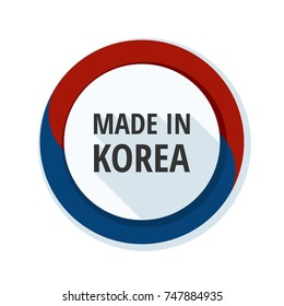 Made in Korea label illustration