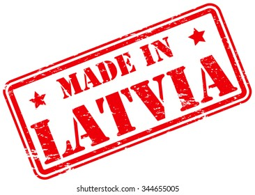 Made in Latvia Rubber Stamp