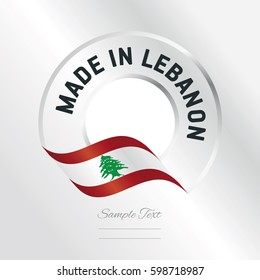 Made in Lebanon transparent logo icon silver background