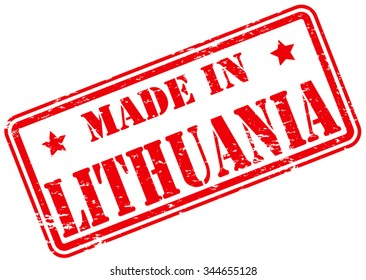 Made in Lithuania Rubber Stamp