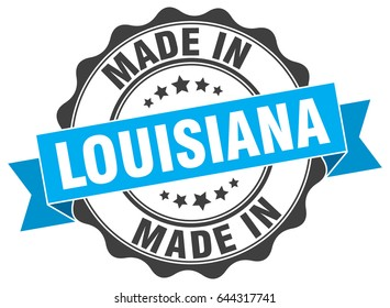 made in Louisiana round seal