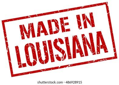 made in Louisiana stamp. Louisiana grunge vintage isolated square stamp. made in Louisiana
