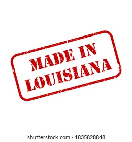 Made in Louisiana state sign in rubber stamp style vector