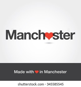Made Love Manchester City United States Stock Vector Royalty Free 345585545